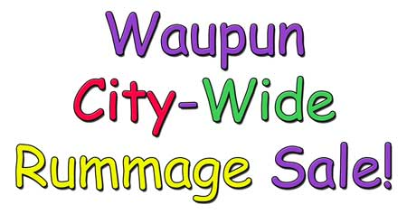 waupun city wide rummage sale